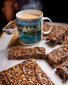 Mocha! Healthy bars that are both chewy and crunchy andhellip