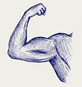 flexed bicep illustration