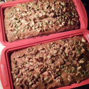 Busy day baking fixitplans banana bread with walnuts pumpkin seedshellip